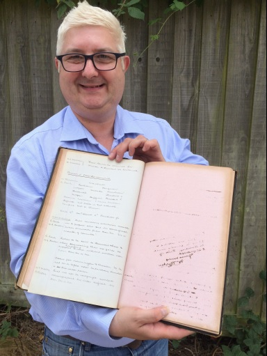 Alistair Lofley with the Derby County memorabilia