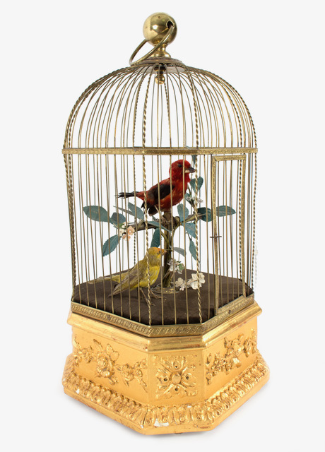 An antique bird automaton from Bontems in Chorley's sale