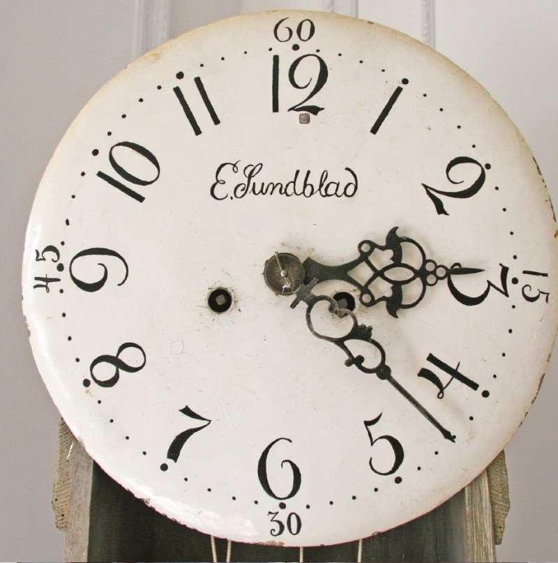 Clock numbers on an antique Swedish Mora clock