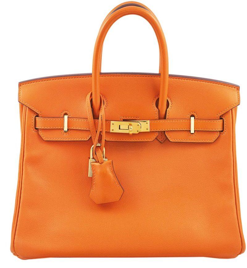 Hermès Birkin 25 in Rare H Orange