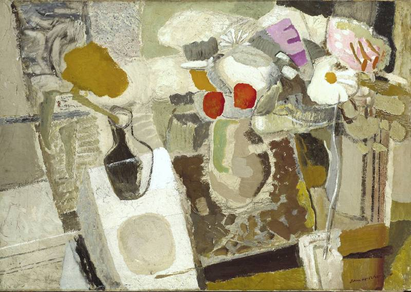 Autumn Composition, Flowers on a Table, 1932, by Ivon Hitchens