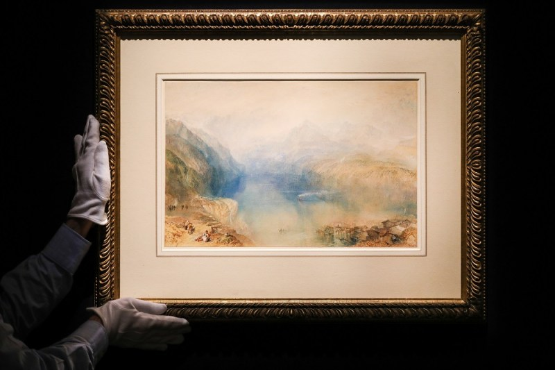 The JMW Turner watercolour, The Lake of Lucerne from Brunnen