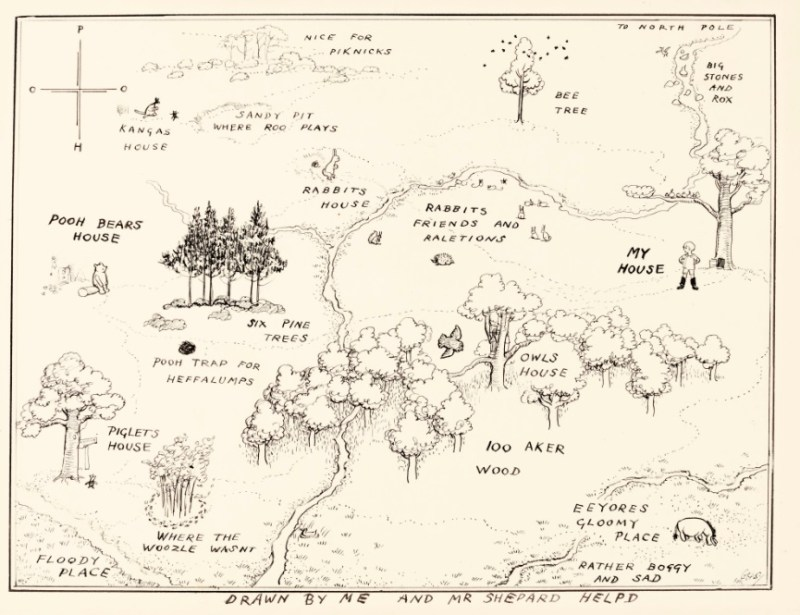 Winnie-the-Pooh Hundred Acre Wood Map