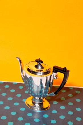An antique silver teapot from The Urban Vintage Affair
