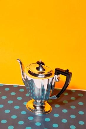 An antique silver teapot from The Urban Vintage Affair