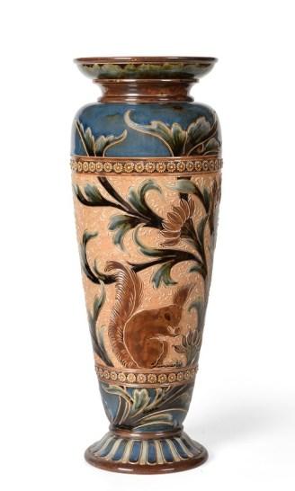 Eliza Simmance Doulton Lambeth Stoneware Vase in British Art Pottery in Yorkshire sale
