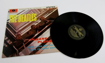 A copy of The Beatles' first album, Please Please Me