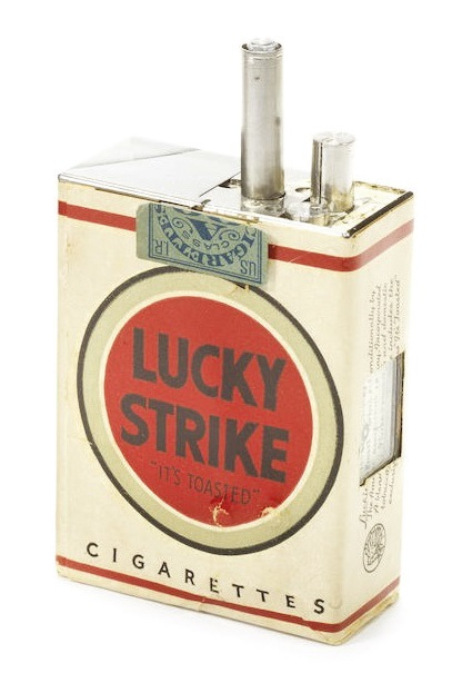 Lucky Strike cigarettes spy camera