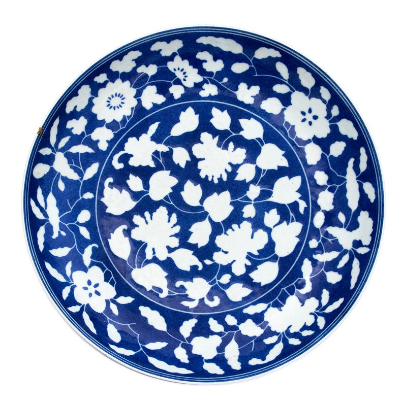 Yongzheng blue and white dish at Hansons auctions