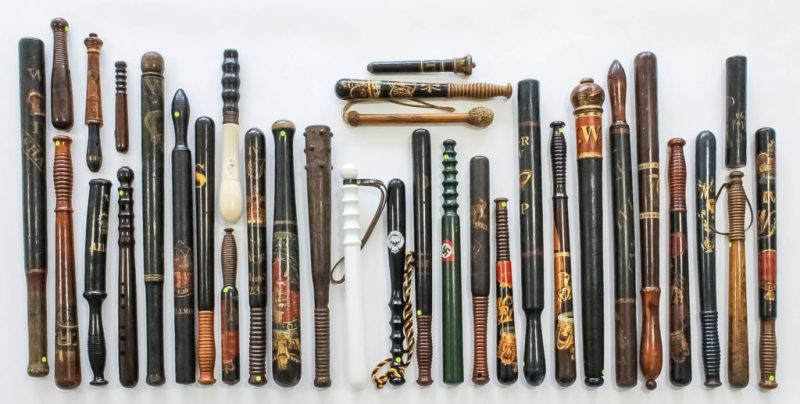 The collection of antique police truncheons for sale in Kent