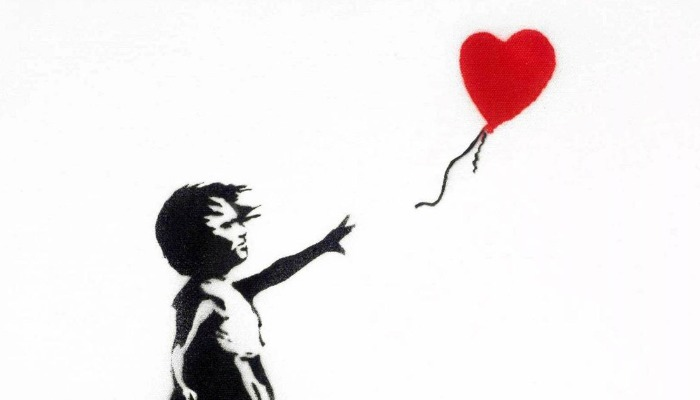 Banksy Girl with Red Balloon