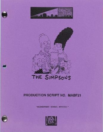 Stephen Hawking's The Simpsons script
