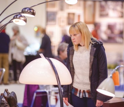 A visitor to Art and Antiques for Everyone at the NEC