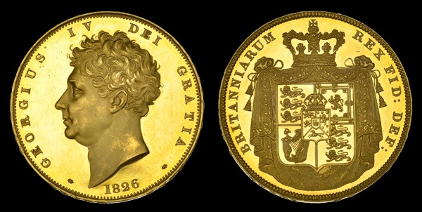 George IV 1826 Proof Five Pound