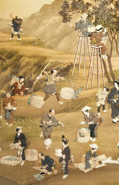 Japanese art like this oshi-e picture is in demand