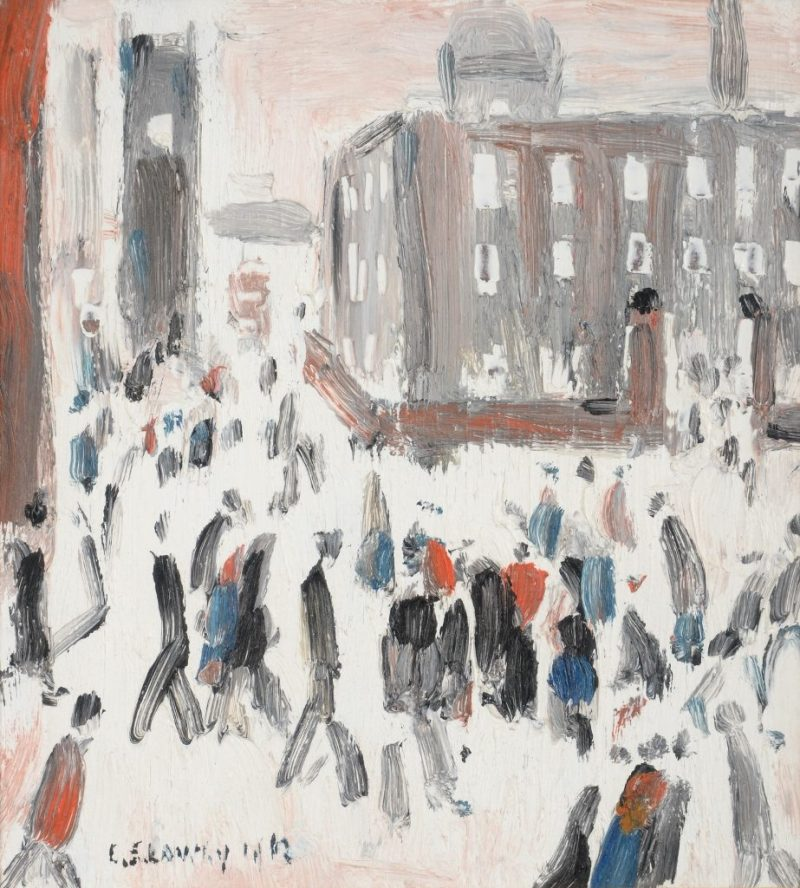 Street Scene, Factory Gates by LS Lowry
