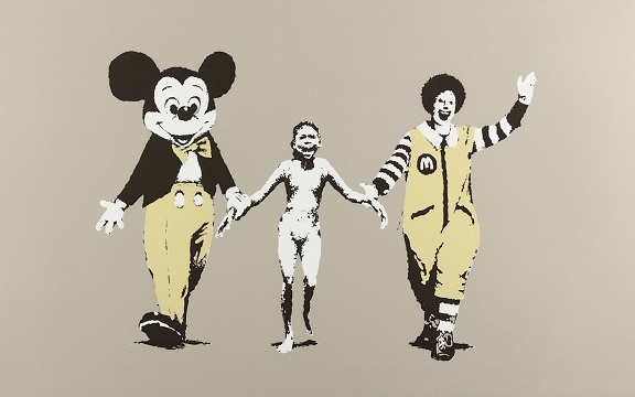 Banksy sale features that artist's 'Napalm'