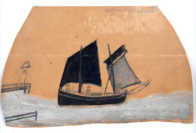 Boat off a Pier - Alfred Wallis