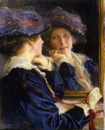 Philip deLászló painting of his wife