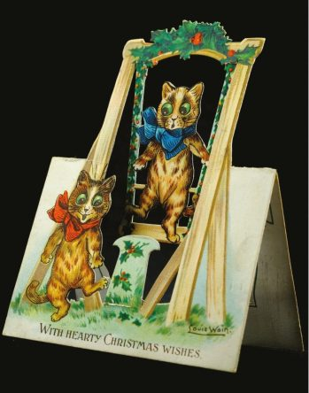 Victorian Christmas card by Louis Wain