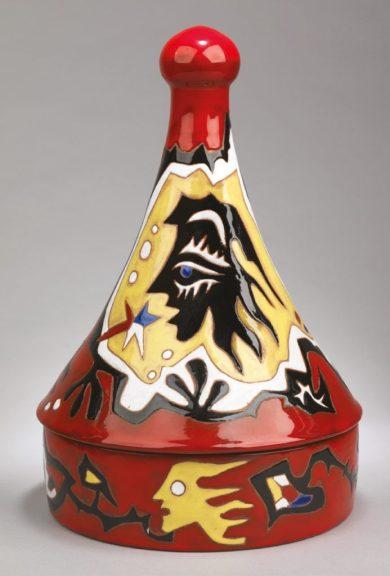 A ceramic tagine by Jean Lurçat