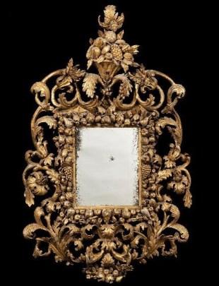 A 17th-century mirror at this year's BADA Fair