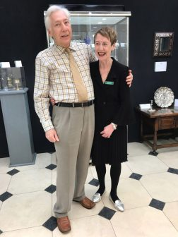 Susan Harrington-James and Christopher Hamlyn run Mayflower antiques