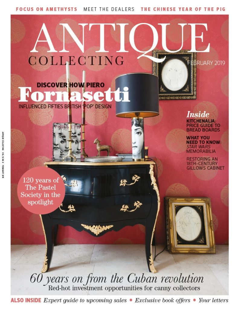 February 2019 issue of Antique Collecting magazine
