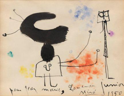 Joan Miro, Sans Titre, 1950,