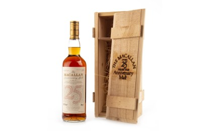 Macallan Anniversary Malt aged 25 years sells for almost £3,000 at auction