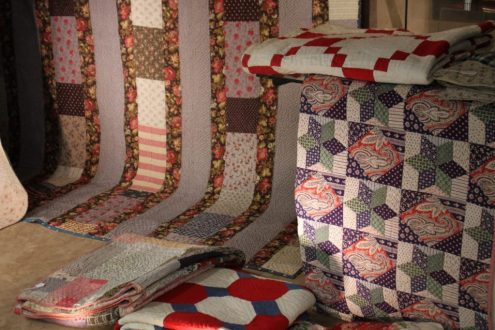 A collection of quilts from Hannah Hauxwell in Yorkshire sale