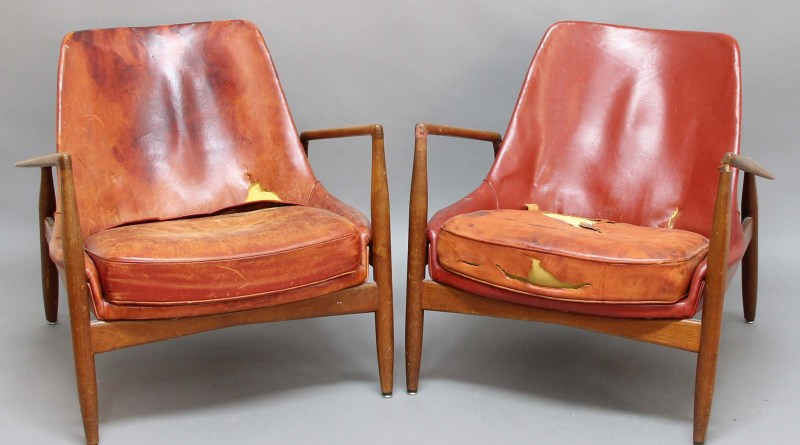 Vintage Danish leather chairs