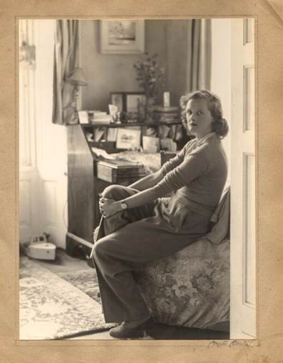 The author Daphne du Maurier in an unseen photograph