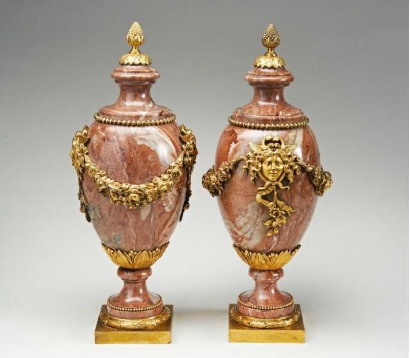 Louis XVI Sarrancolin Vases