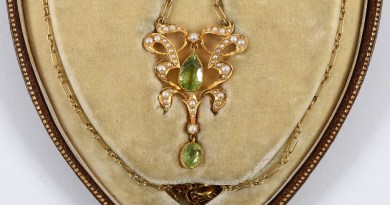 The antique Edwardian heart shape necklace