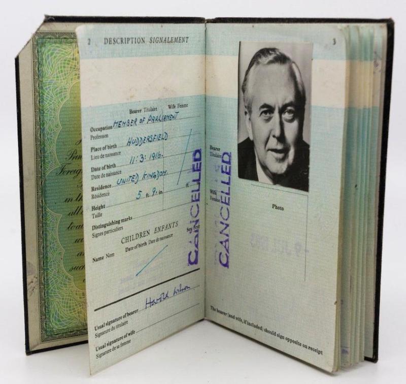 Harold Wilson's passport