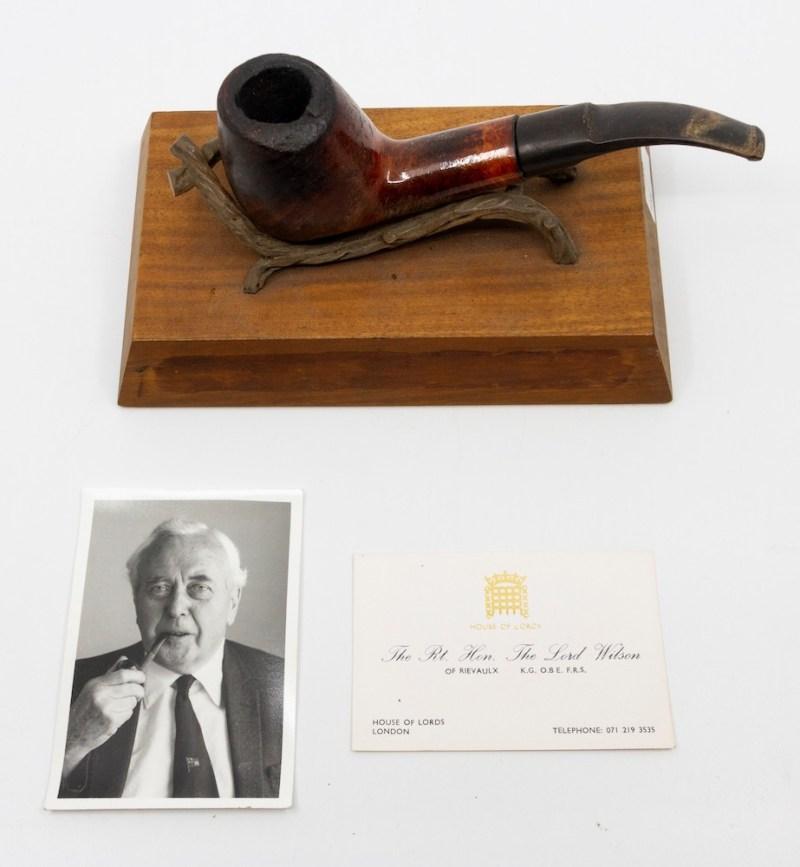 Harold Wilson's pipe.