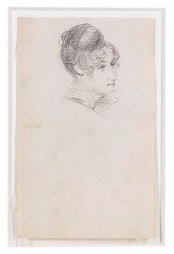 A pencil sketch by John Constable of his wfe