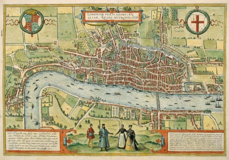 Tudor map of London