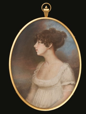 Charles Hayter (British 1761-1835), portrait miniature of a lady