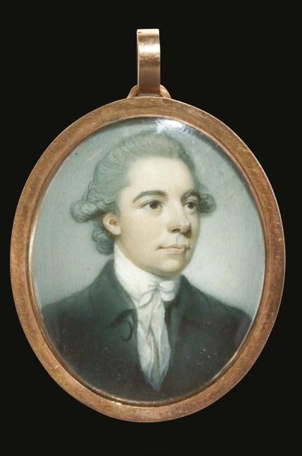 Richard Crosse (British 1742-1810), portrait miniature of a young gentleman