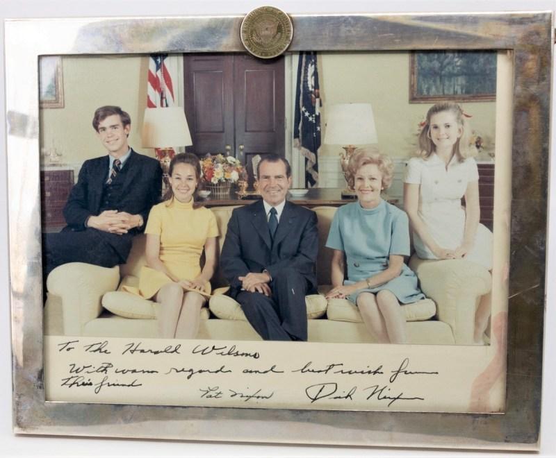 Richard Nixon and family photograph
