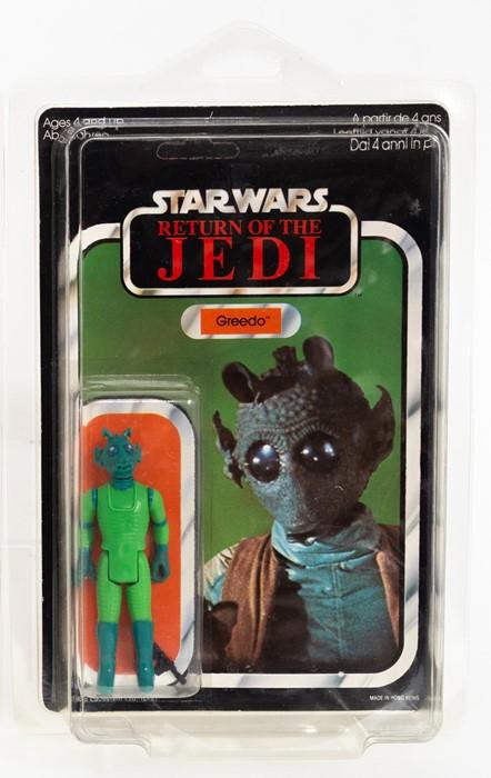 A vintage Star Wars Return of the Jedi Greedo figure