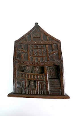 17th century carved oak plague panel