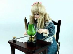 オートマタ人形『手紙を書く少女』