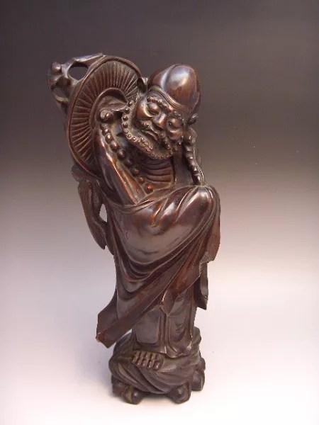 黄楊木彫り仙人立像