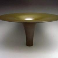 吉野竹治作 鋳銅花器