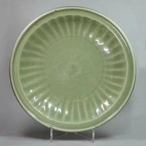 龍泉窯青磁大皿