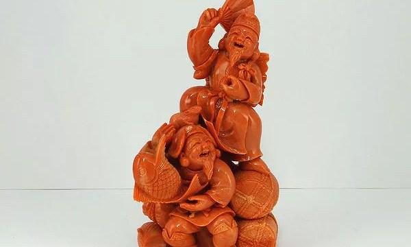 桃珊瑚 恵比寿大黒像