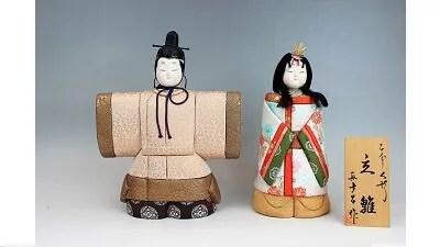 真多呂作/立雛木目込み人形